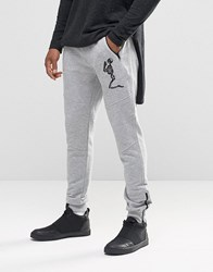 Religion Big Skeleton Jersey Jogger Grey Marl