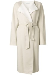 Dusan Oversized Belted Coat Nude And Neutrals