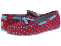 I Heart Ugg Belle Powder Blue Hearts Suede Women's Shoes Red