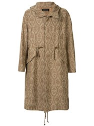 Undercover Embroidered Parka Coat 60