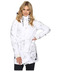O'neill Queen Peak Jacket White All Over Print Women's Jacket