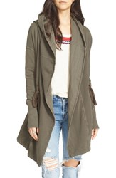 Free People Women's Brentwood Cotton Cardigan Olive