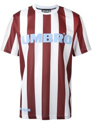 House Of Holland Umbro Jersey Striped T Shirt Red