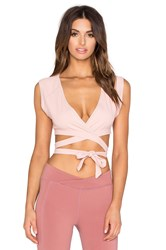 Free People Pique Wrap Top Blush