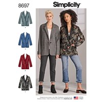 Simplicity Oversized Blazer Sewing Pattern 8697