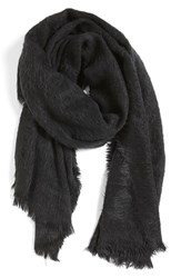 Women's Collection Xiix 'Runway' Fuzzy Wrap Black Black Paint