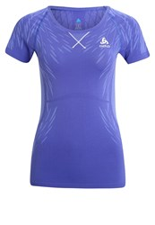 Odlo Evolution Light Sports Shirt Spectrum Blue Baja Blue Purple