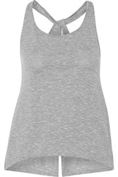 Athletic Propulsion Labs Split Back Cotton Blend Tank Gray