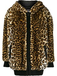Boutique Moschino Leopard Print Coat Brown