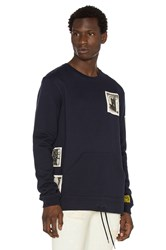 10.Deep Shadowplay Badge Crewneck Navy
