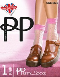 Pretty Polly Sheer Spot Socks Pink