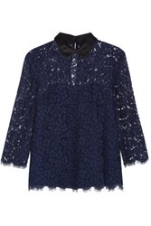 Rachel Zoe Oliver Corded Lace Top Midnight Blue
