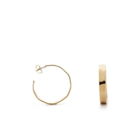 J.Crew Hammered Hoop Earrings Gold