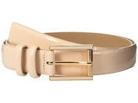 Calvin Klein 25Mm Feather Edge Patent Leather Belt With Harness Roller Buckle And Enamel Fill Blush Women's Belts Pink