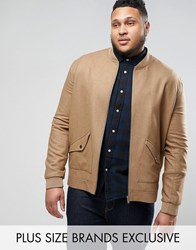 Heart And Dagger Plus Tweed Bomber Camel Brown