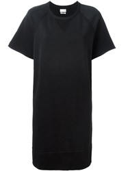 Rag And Bone Sweatshirt T Shirt Dress Black