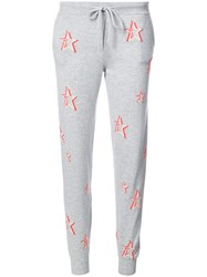 Chinti And Parker Star Print Track Pants Women Cashmere S Grey