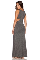 Dolan Double Racerback Maxi Dress Gray