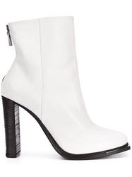Vic Matie High Heel Ankle Boots White