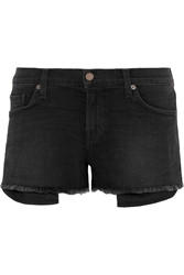 Textile Elizabeth And James Ruby Stretch Denim Shorts Black