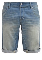 Edc By Esprit Denim Shorts Blue Bleached Blue Denim