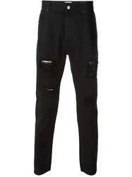 Palm Angels Ripped Jeans Black