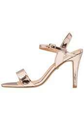 Buffalo High Heeled Sandals Metallic Champagne Gold