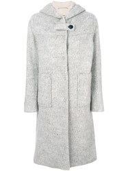 Bellerose Hooded Duffle Coat Cotton Acrylic Polyester Other Fibers Grey
