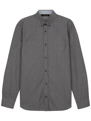 Jaeger Mouline Poplin Shirt Grey