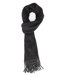 Polo Ralph Lauren Grey Double Face Striped Wool Scarf