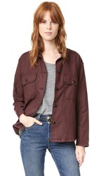 The Great Army Shirt Jacket Wine