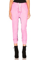 Unravel For Fwrd Lace Up Leggings In Pink