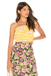 Mds Stripes Cropped Cami Top Yellow