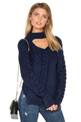Somedays Lovin Texan Cable Knit Sweater Blue