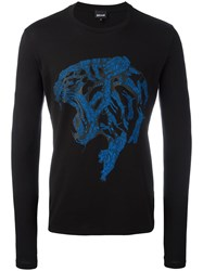 Just Cavalli Feline Print Sweatshirt Black