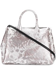 Gum Hawaii Floral Print Tote Bag Grey