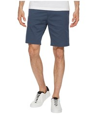 Calvin Klein Flat Front Striped Twill Shorts Atlantis Blue