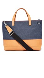 Jack Spade Denim Coal Bag Blue Tan