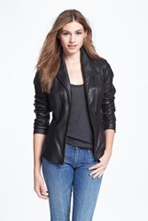 Cole Haan Women's Lambskin Leather Scuba Jacket