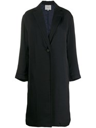 Vince Classic Single Breasted Coat Blue