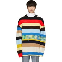 Calvin Klein 205W39nyc Multicolor Irregular Striped Sweater