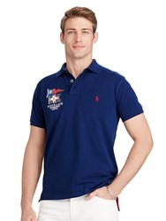 Polo Ralph Lauren Prl Yacht Club Custom Fit Shirt Holiday Navy