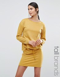 Vero Moda Tall Slouchy Sweatdress Harvest Gold Yellow