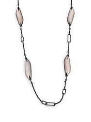 Alexis Bittar Lucite Chain Necklace Sunset