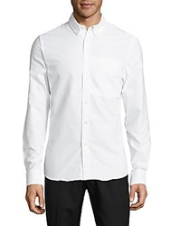 Opening Ceremony Kole Solid Cotton Shirt White
