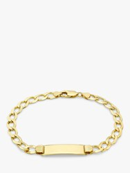 Ibb Personalised Unisex 9Ct Gold Curb Chain Bracelet Gold