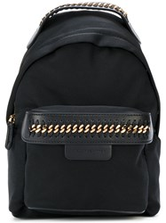Stella Mccartney Mini Falabella Go Backpack Women Polyester Artificial Leather Metal One Size Black