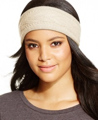 Charter Club Cashmere Cable Knit Headband Only At Macy's Ivory