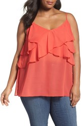 Sejour Plus Size Women's Ruffle Camisole Red Tomato Lush
