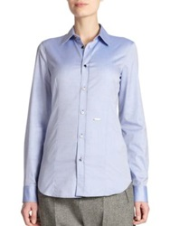 Dsquared Classic Button Front Shirt Light Blue